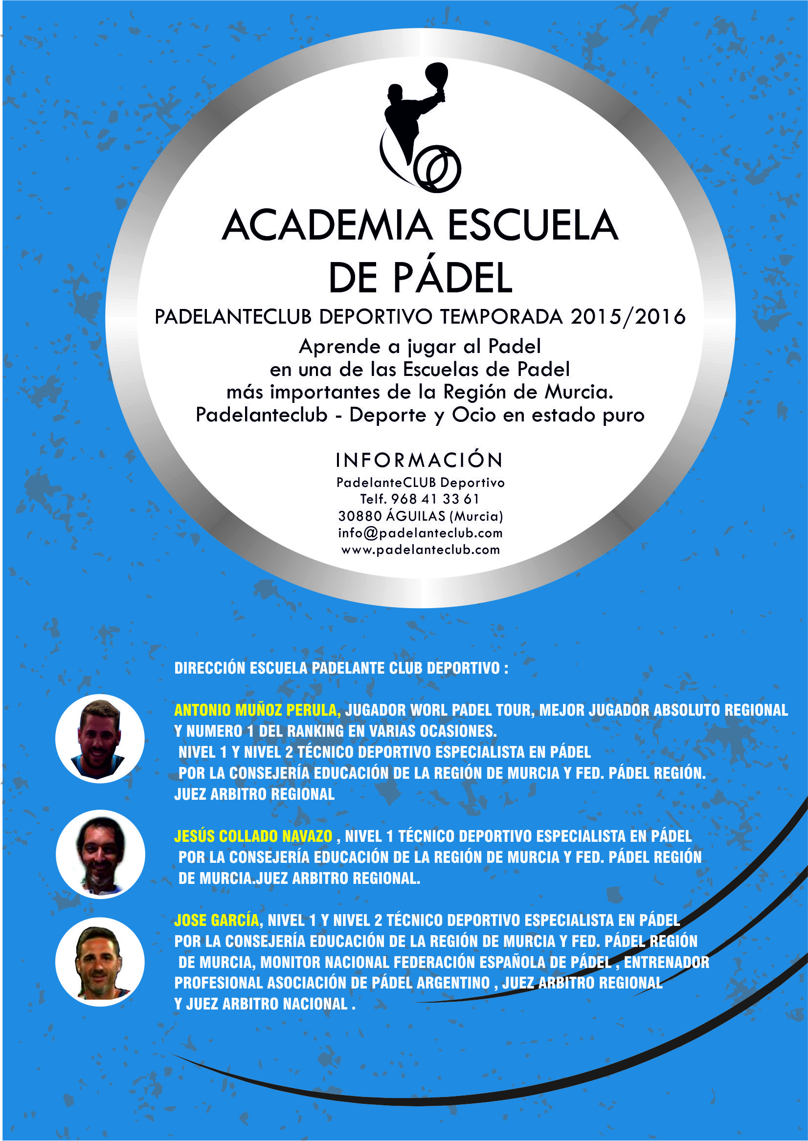 ACADEMIA ESCUALA DE PADEL  2015 - 2016 terminado2
