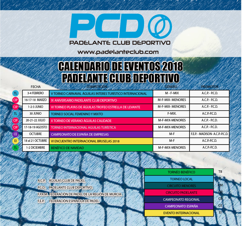 calendario 2018 PCD