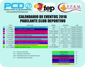 CALENDARIO  EVENTOS 2016 TERMINADO