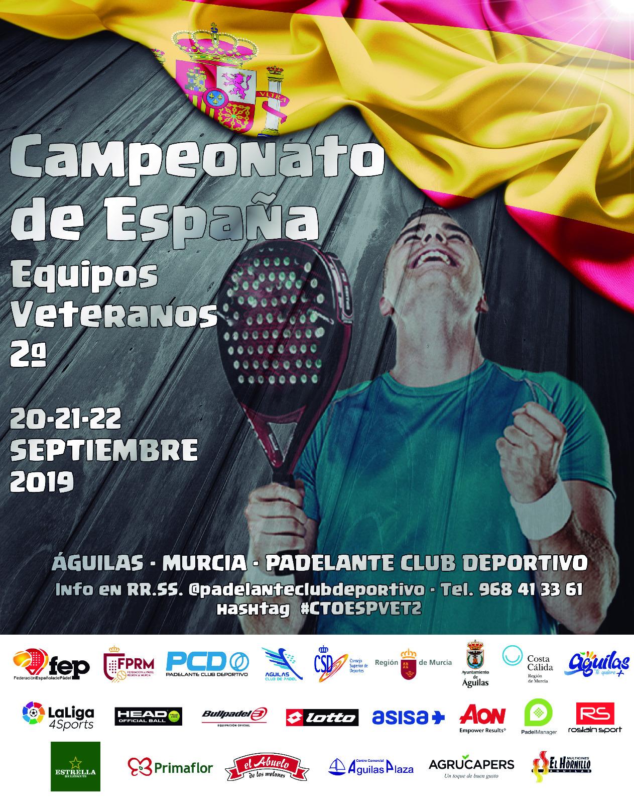 Cartel Cto. España Veteranos 2ªCategoría Equipos